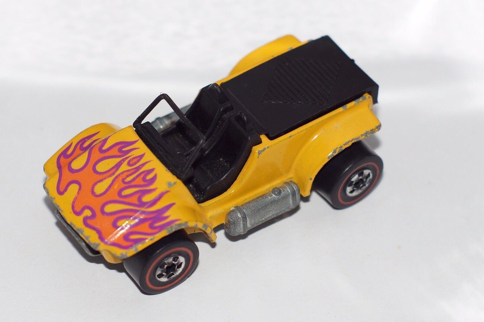 Original Hot Wheels Redline-Arena Drifter Coche-amarillo con llamas-Hong Kong