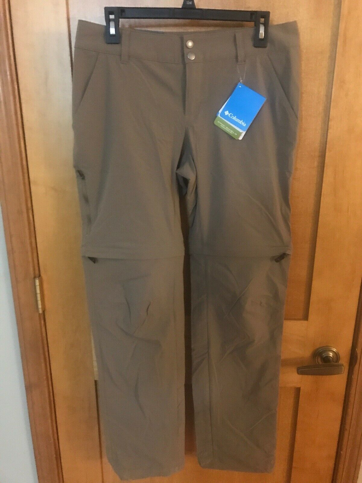NWT Columbia Womens Saturday Trail II Congreenible Pants - Tan - size 10