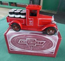 LIBERTY 1928 CHEVY NATIONAL AB MARATHON OIL DRUM PICKUP TRUCK DIE CAST COIN BANK