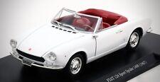 LEO 1:24 White 1967 Fiat 124 Sport Spider 1400 with Display Case, NIB!