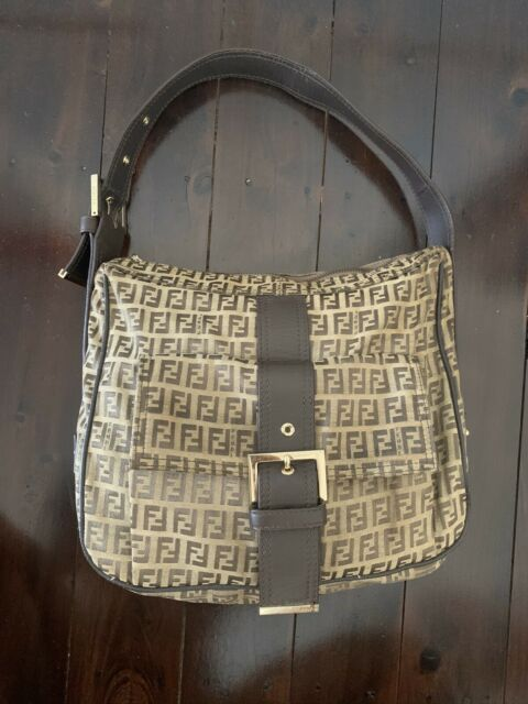 Vintage Fendi Mama Zucca Print Shoulder Bag Satchel Authentic Rare
