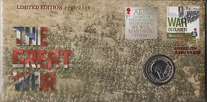 Australia Stamps PNC 2014 The Great War Limited Edition 2203/2500 UK Coin WWI