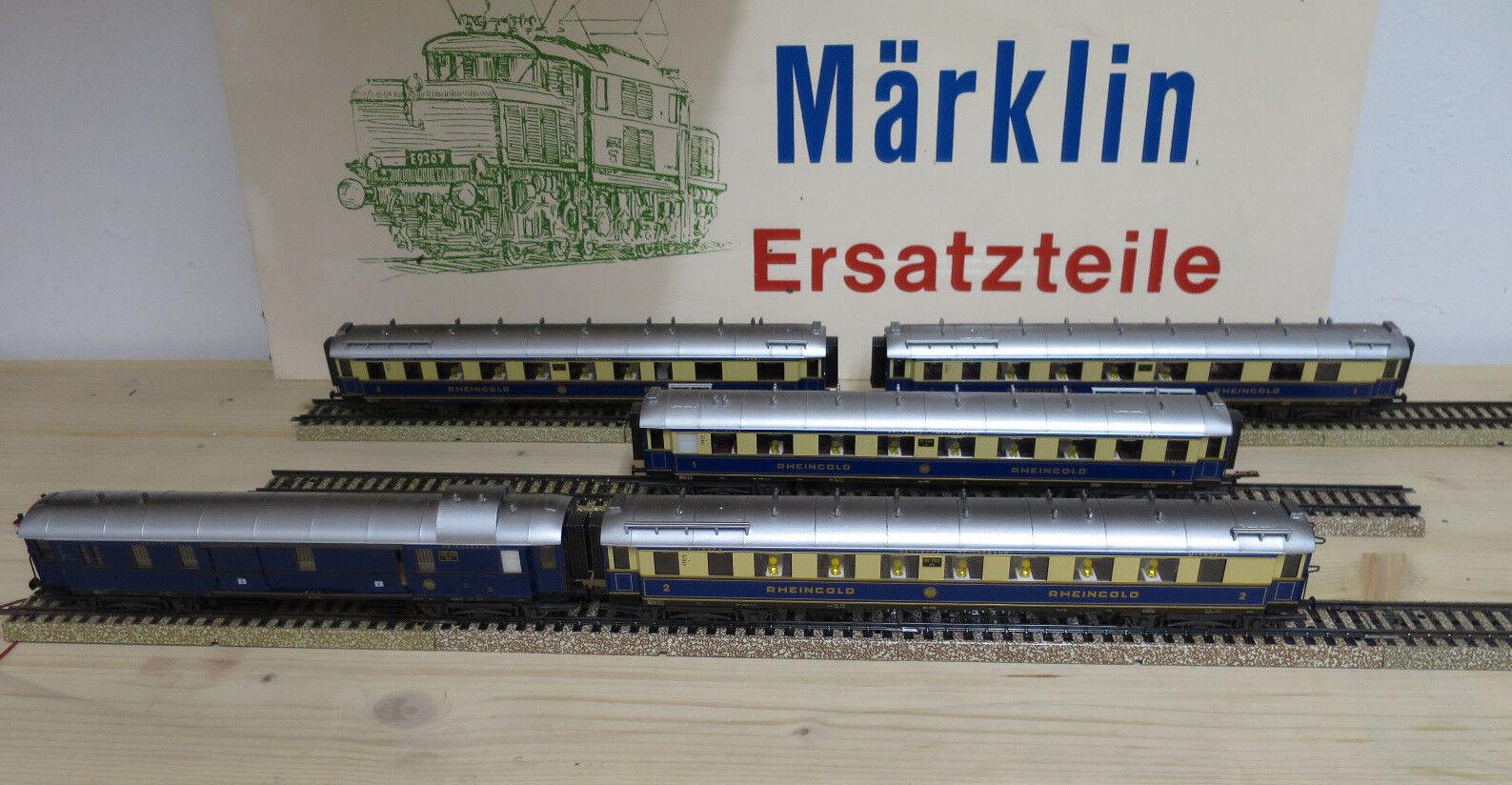 (MB) Märklin 4228 gold Del Rin Vagón Probado Iluminación a Elegir Nuevo & Usado