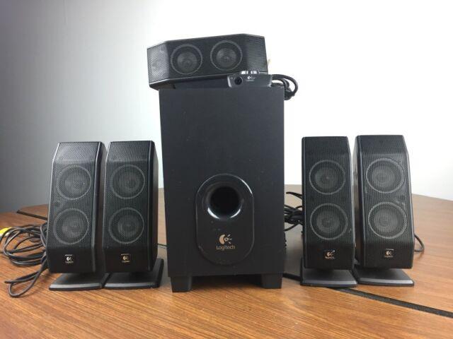Logitech X-9 9.9 Surround Sound Speaker System With Subwoofer R9