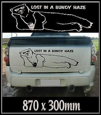 585 x 400mm Gift 1 Bar Personalised Bundy Bear Fridge Rum Sticker Decal