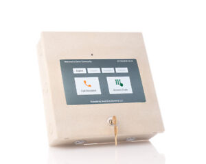 10-034-Tablet-Enclosure-with-Lock-and-USB-Powered-Speaker-Kiosk