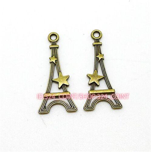 P1031 20pc Antique Bronze tower Pendant Bead Charms Accessories wholesale