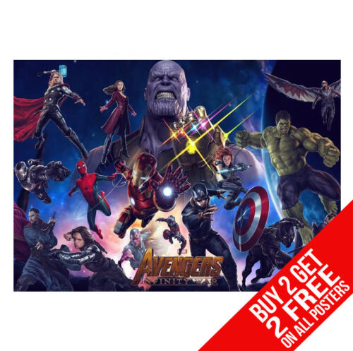 A3 SIZE BUY 2 GET ANY 2 FREE THE AVENGERS INFINITY WAR POSTER DD5 PRINT A4