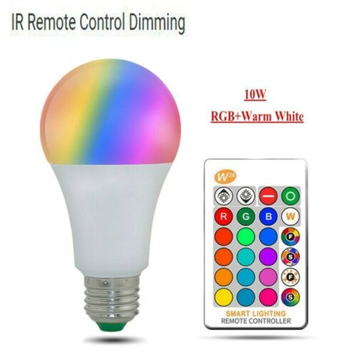 Smart Dimmable LED RGB Color Light Bulb With Alexa WIFI Remote Control Lamps E27