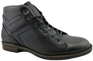 $215 REACTOR Black Calf Leather Ankle Boots Men Shoes