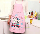 New Cute Hello Kitty Waterproof Kitchen Dining Bar Apron Pinafore Pink