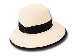 04d9b8df96 Image is loading Borsalino-Panama-Hat-Black-Woman-Janine