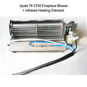 Electric Fireplace Blower Fan Infrared Heating Element For Heat