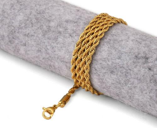 Kordelkette Damen Herren 2mm Halskette Echt 999er Gold 24K vergoldet 50cm Neu!