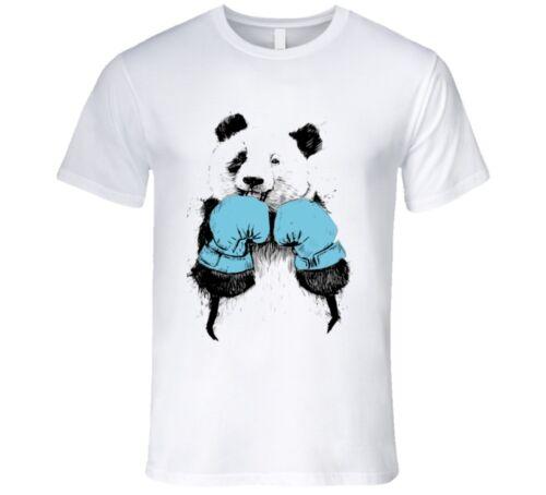 BLUE CORNER PANDA BOXER BLACK EYE CUTE T Shirt