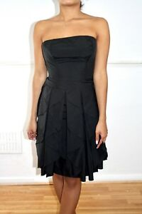 REISS-Black-Strapless-Cocktail-Prom-Party-Dress-Uk-4-Us-0