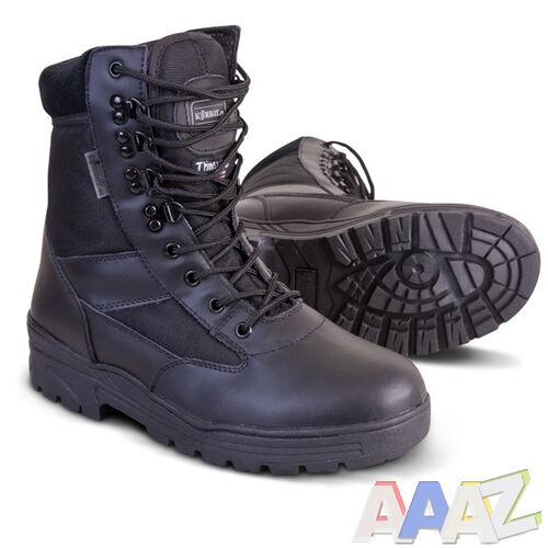 Cuir noir kombat moitié Armée Bottines de combat tactique cadet police de sécurité Kit