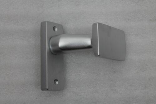 NEU 1300//161 gekröpfter Knopf festdrehbar auf Gussrosette Türgriff F1 eloxiert