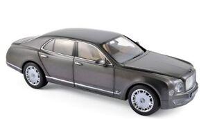 Bentley Mulsanne 2010 Brodagar Gris Minichamps Modèle 1:18 Norev