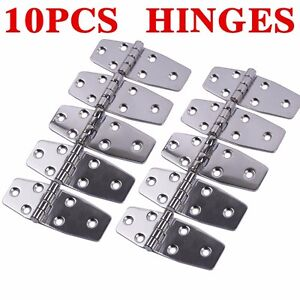 Details about 10Pcs AISI 316 Stainless Steel Boat Marine Flush Door Hinges  3 8