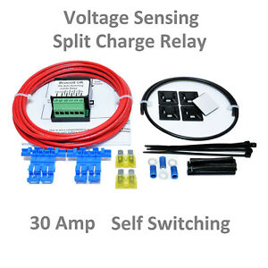 FORD-TRANSIT-SELF-SWITCHING-VOLTAGE-SENSING-SPLIT-CHARGE-RELAY-KIT-12V-30-AMP-n