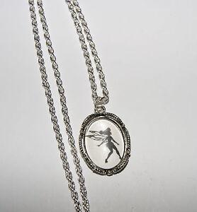 Personalised necklace pendant tinkerbell disney keepsake gift ebay image is loading personalised necklace pendant tinkerbell disney keepsake gift aloadofball Choice Image