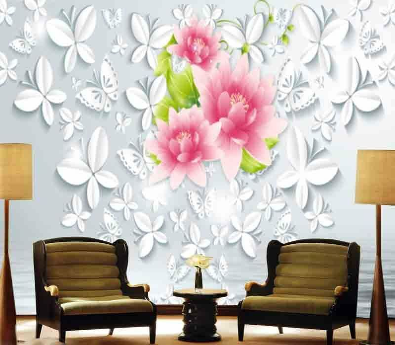 Butterfly Big Relief 3D Full Wall Mural Photo Wallpaper Printing Home Kids Decor