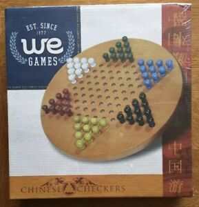 WE-Games-Solid-Wood-Chinese-Checkers-with-Wooden-Pegs-11-5-inch-Diameter-AA26