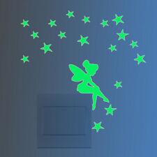 Fairy&Stars Luminous Switch Wall Sticker Cartoon Kid Bedroom Home Decor 1 Pcs SL