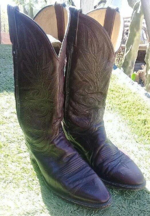 Dan Post Cowboy Stiefel  16773 Größe 10 D, Burgundy Cherry