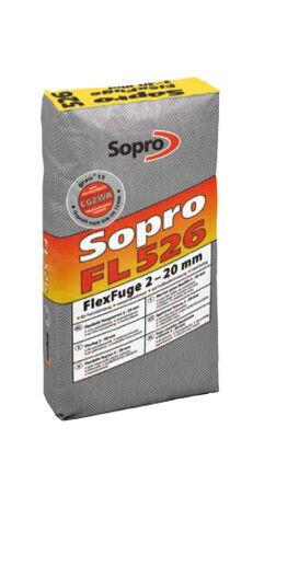 KG Sopro FlexFuge FL 625 Fliesenfuge Fugenmörtel Fugenmasse basalt 25 KG