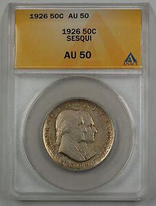 1926-Sesqui-Commemorative-Silver-Half-Dollar-Coin-ANACS-AU-50-A