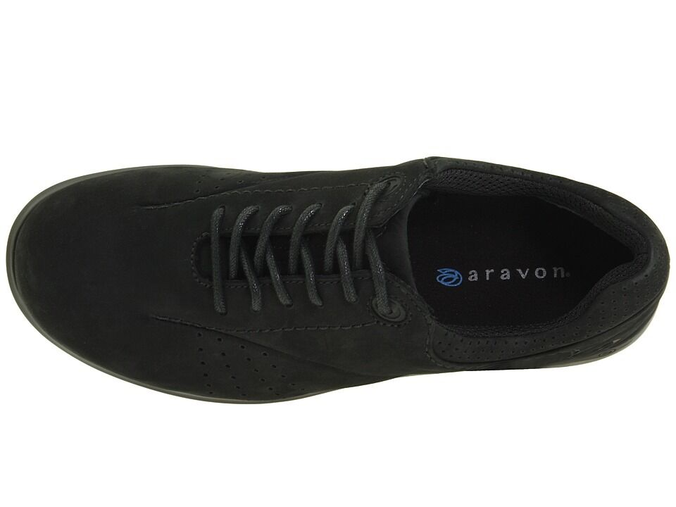 Aravon Aravon Aravon Farren WEF07BN Black Nubuck Laced shoes 6.5 B 790b5e