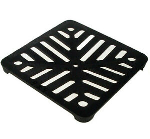 150mm-6-034-Square-Cast-Iron-Drain-Grate-Cover-Gully-Grid-in-Black