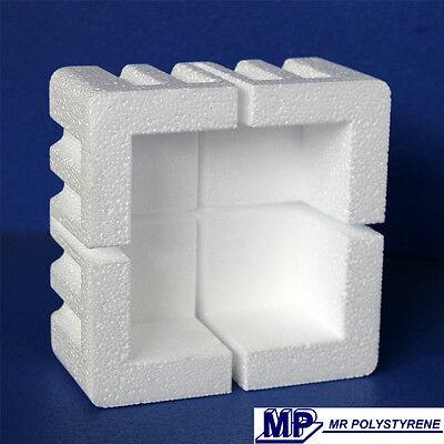 Polystyrene Styrofoam corner protectors packing /& shipping Qty 8