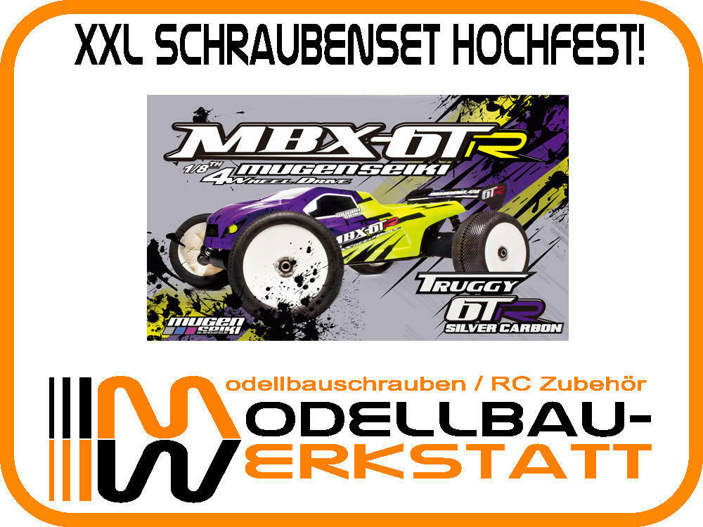XXL Schrauben-Set Stahl hochfest Mugen MBX-6TR MBX-6T Mspec screw kit