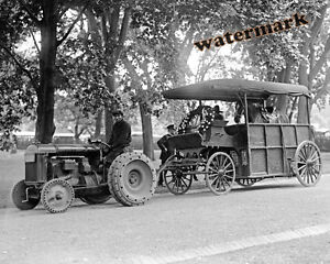 1922 A Fordson Tractor in a Parade Historic Photo Print