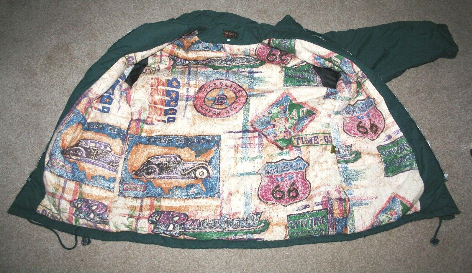 Men's Duffel Coat Parka LARGE Green Threads Unlim… - image 6