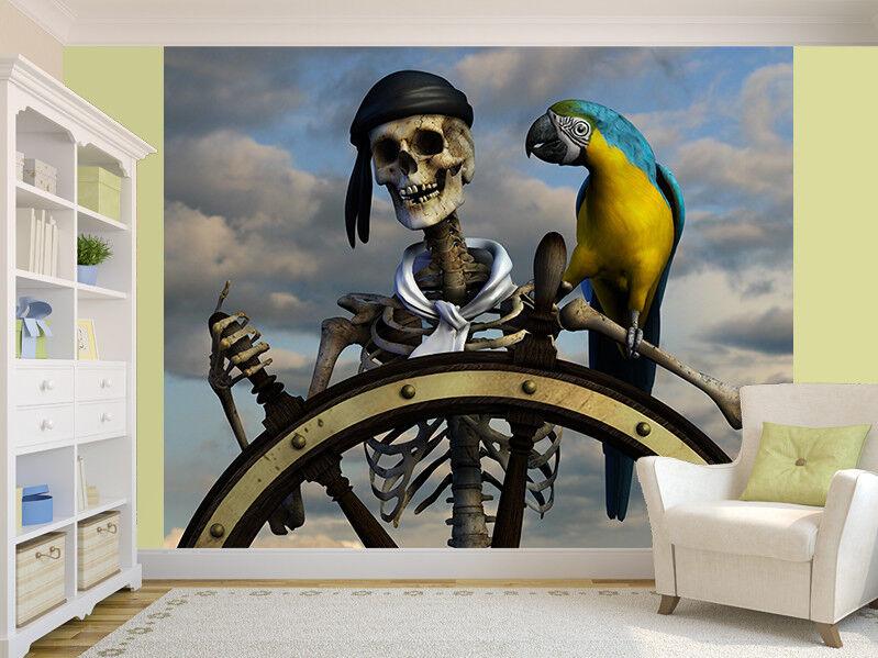 3D von einem Skelett Piraten Foto Wandtapete Wandgemälde (11193971)