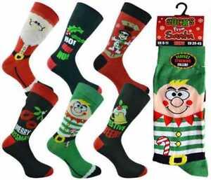 Calcetines-para-hombre-Navidad-Novedad-Festivo-Regalo-de-Navidad-Fiesta-De-Oficina-chicos-Santa-Reno