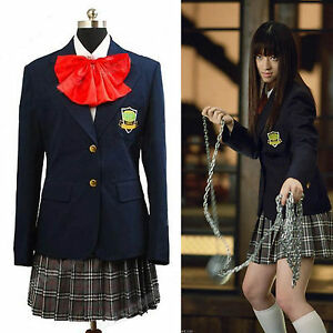 Image is loading Kill-Bill-Gogo-Yubari-Uniform-Cosplay-Costume-Dress-