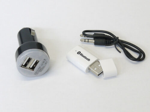 Car Charger for Speaker Bluetooth Music Stereo Wireless Audio Receiver Adapter