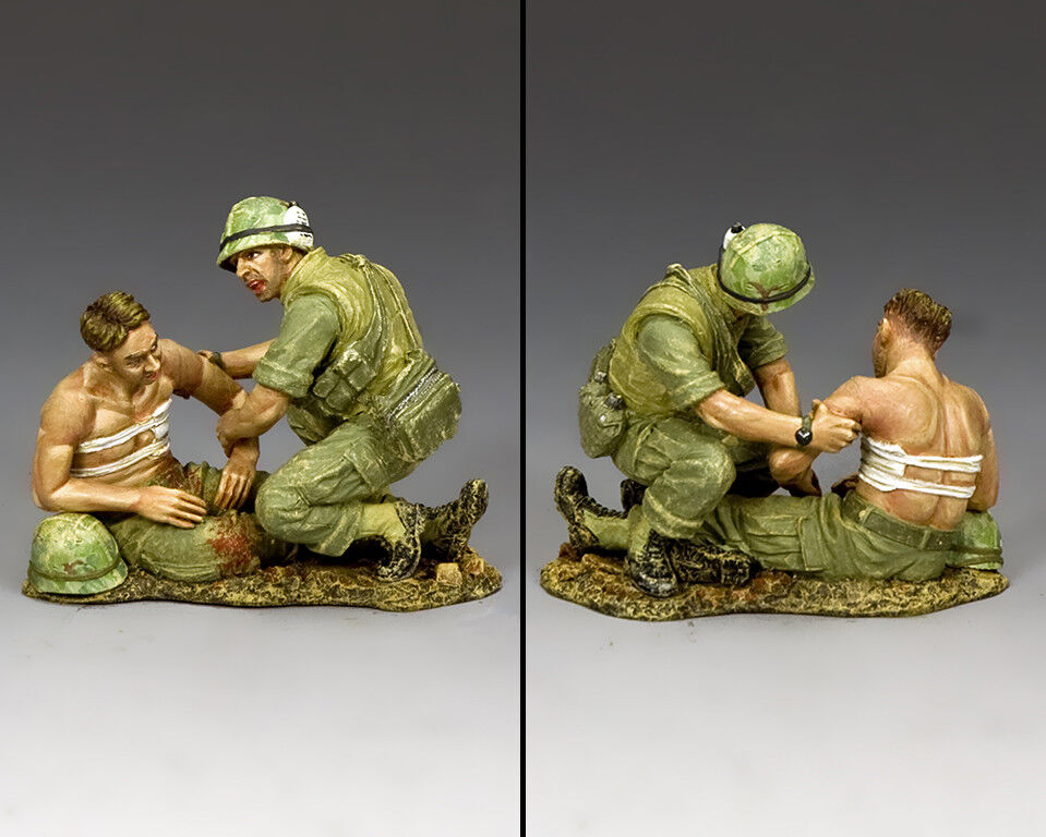 KING AND COUNTRY Vietnam War - Corpsman & Wounded Marine VN009