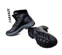 Men Faranzi Black Hiking Boot Faux Fur Lining Casual Fashion Shoes Fb41315
