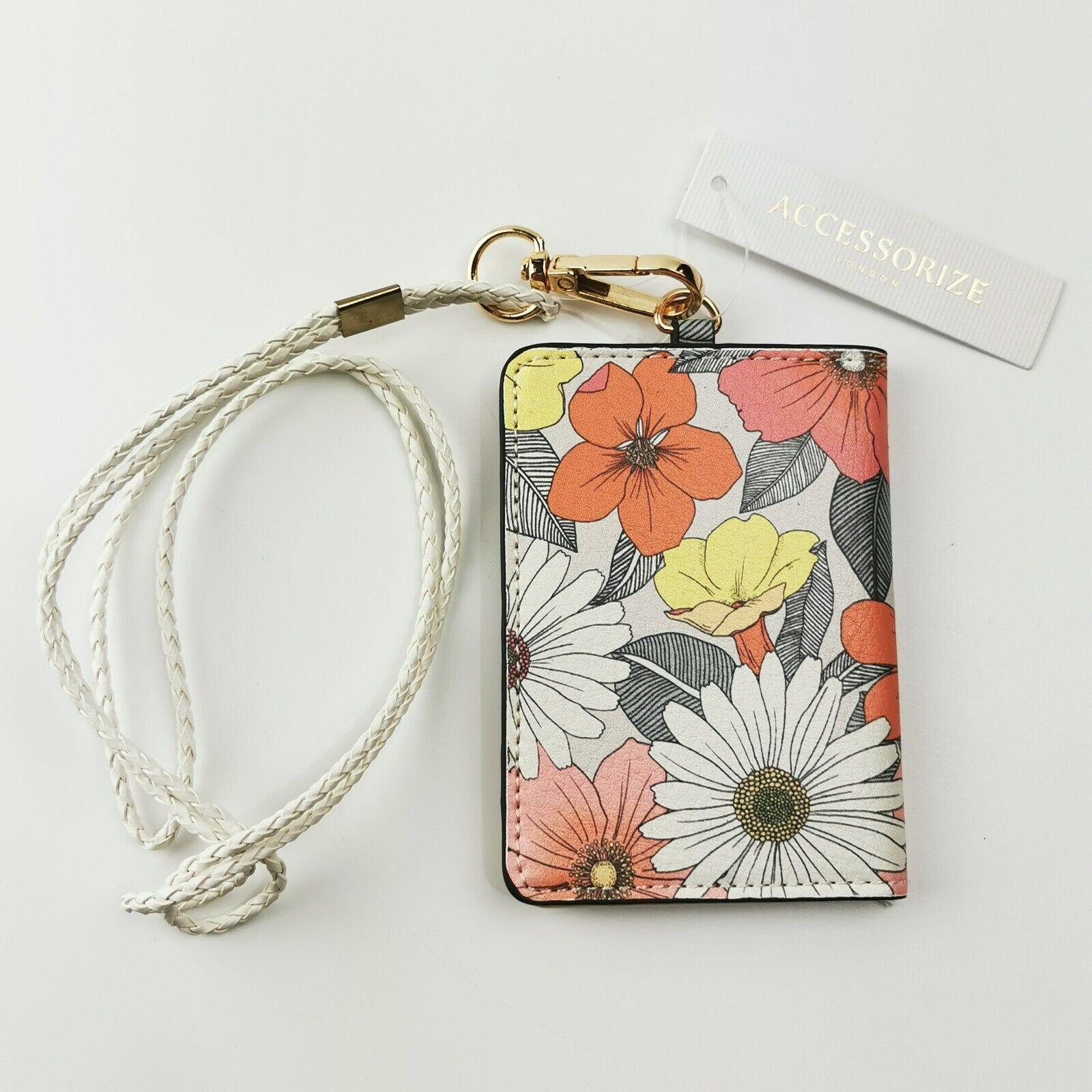 ~ Accessorize ~ Floral Lanyard ~ ID Holder / Wallet / Card Holder ~ Neck Strap ~
