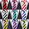 Mens Wedding Slim Classic Silk Tie Fashion Stripes Necktie Plain Satin Tie Gift