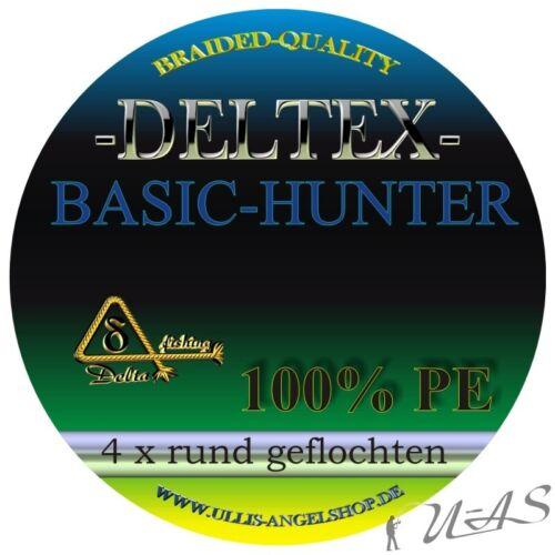 DELTEX Basic Hunter Grau 0,30mm 18.20kg 270M 4 fach Rund Geflochtene Angelschnur