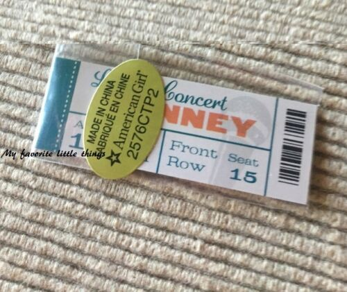 """American Girl Tenney/'s show concert ticket from Stage Dressing Room NEW 18/"""" doll"""