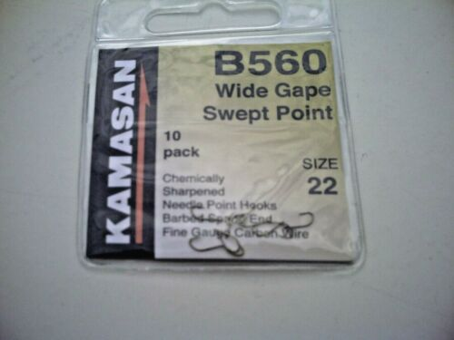 50 x Kamasan B560 Micro Barb Spade End Hooks Size 22 Perfect All Round Hook.
