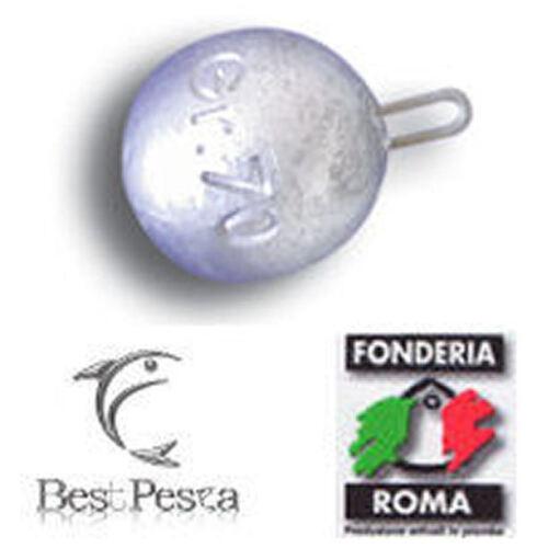 40gr Piombo SFERA anello inox Fonderia Roma